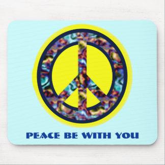 La paz sea con usted Mousepad