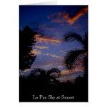La Paz Sky at Sunset Greeting Card