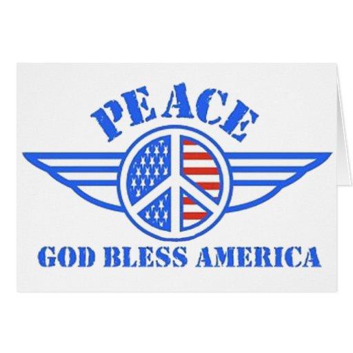 La paz tiene alas tarjetas