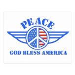 La paz tiene alas tarjetas postales