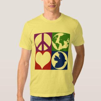 La paz, tierra, amor, se zambulló camiseta poleras