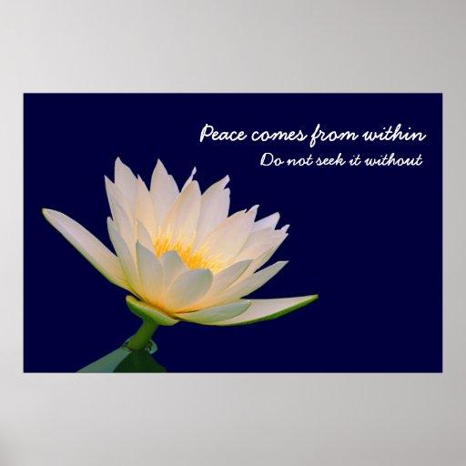 La paz viene de dentro impresiones