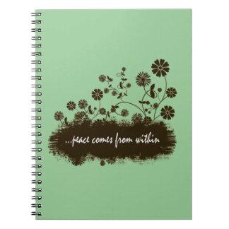 La paz viene dentro del espiral - cuaderno encuade