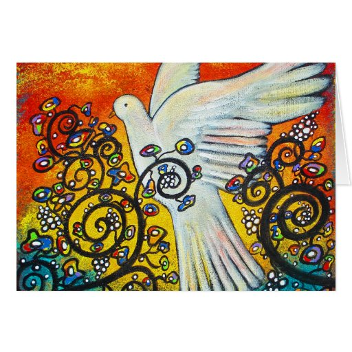 La paz voló en tarjeta de Navidad