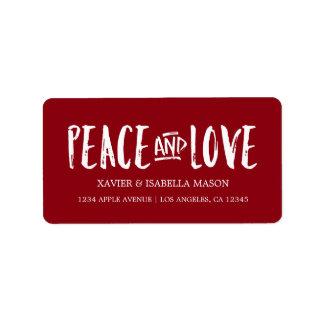 La paz y el amor el | eligen color de fondo etiquetas de dirección