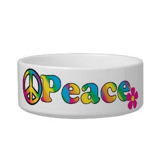 La paz y el Hippie brillante de los colores 60s de Boles Para Gatos