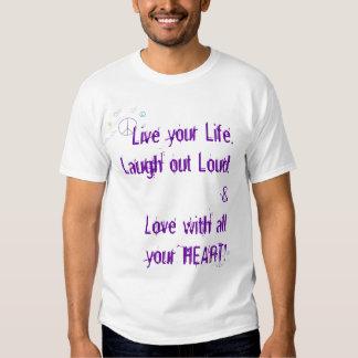 la paz y los corazones, vivos, aman, ríen… camisas
