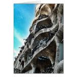 La Pedrera de Antoni Gaudí Tarjeta De Felicitación