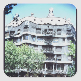 La Pedrera or Casa Mila, 1905-10 Square Sticker