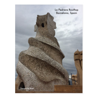 La Pedrera Rooftop Barcelona Postcard