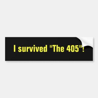 La pegatina para el parachoques 405 etiqueta de parachoque
