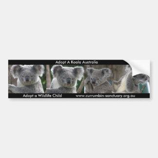 La pegatina para el parachoques adopta una koala A Etiqueta De Parachoque