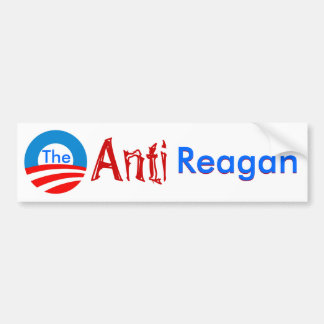 La pegatina para el parachoques anti de Regan Pegatina Para Auto