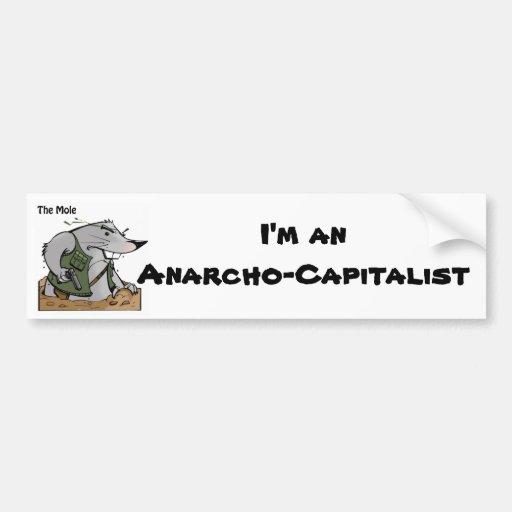 La pegatina para el parachoques de Anarcho del top Etiqueta De Parachoque
