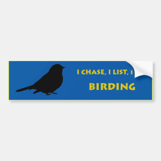 La pegatina para el parachoques de Birdwatcher Pegatina Para Auto