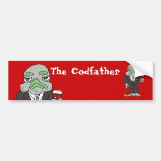 La pegatina para el parachoques de Codfather Pegatina De Parachoque