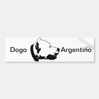 La pegatina para el parachoques de Dogo Pegatina De Parachoque
