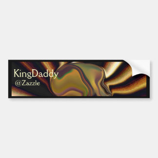 La pegatina para el parachoques de KingDaddy de la Pegatina De Parachoque