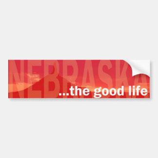 … la pegatina para el parachoques de la buena vida pegatina para auto