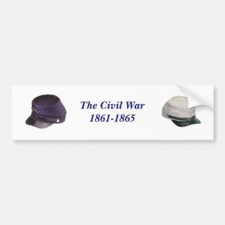 La pegatina para el parachoques de la guerra civil pegatina de parachoque