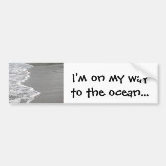 la pegatina para el parachoques de los océano-aman etiqueta de parachoque