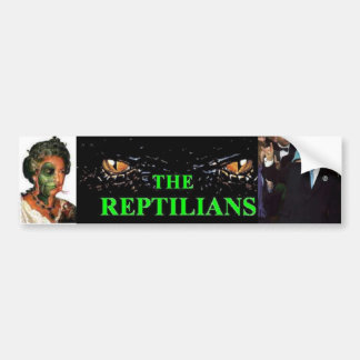 La pegatina para el parachoques de los Reptilians Pegatina Para Auto