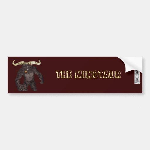 La pegatina para el parachoques de Minotaur Pegatina Para Auto