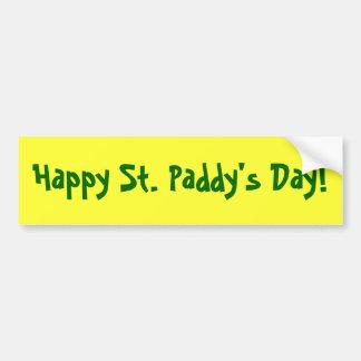 La pegatina para el parachoques de St Patrick del  Pegatina Para Auto