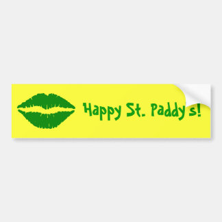La pegatina para el parachoques de St Patrick verd Etiqueta De Parachoque