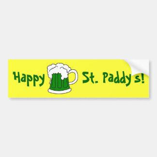 La pegatina para el parachoques de St Patrick verd Pegatina De Parachoque