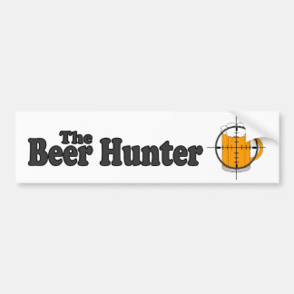 La pegatina para el parachoques del cazador de la  pegatina para auto