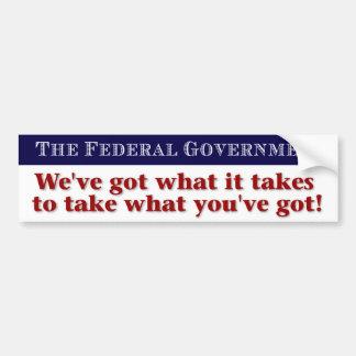 La pegatina para el parachoques del gobierno pegatina para auto