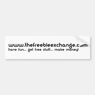 La pegatina para el parachoques del intercambio de pegatina de parachoque