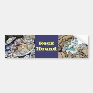 La pegatina para el parachoques del perro de roca  pegatina de parachoque