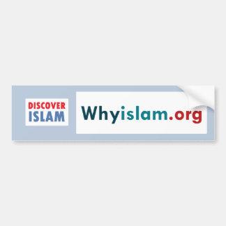 La pegatina para el parachoques descubre el Islam Pegatina Para Auto