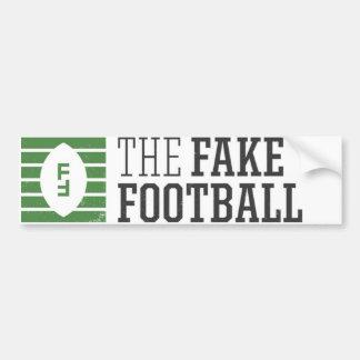 La pegatina para el parachoques falsa del fútbol etiqueta de parachoque