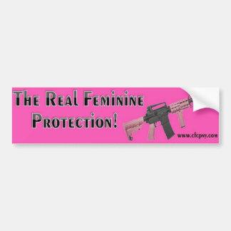 La pegatina para el parachoques femenina real de l pegatina para auto
