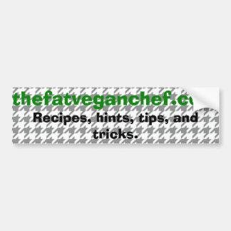 La pegatina para el parachoques gorda del cocinero etiqueta de parachoque