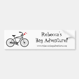 La pegatina para el parachoques grande de Rebecca Pegatina Para Auto