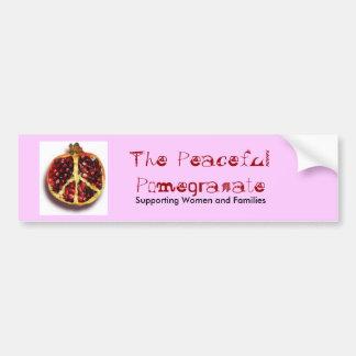 La pegatina para el parachoques pacífica de la gra pegatina de parachoque