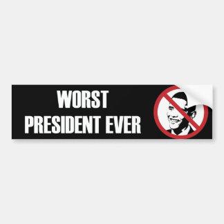 La pegatina para el parachoques peor de presidente pegatina de parachoque