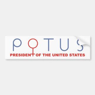 La pegatina para el parachoques POTUS de Hillary Pegatina Para Auto