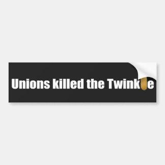 La pegatina para el parachoques, uniones mató al T Pegatina Para Auto