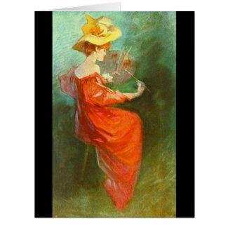 La Peinture 1900 Card