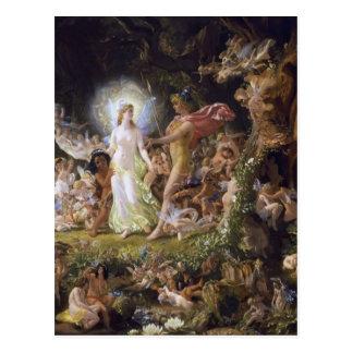 La pelea de Oberon y del Titania Tarjetas Postales