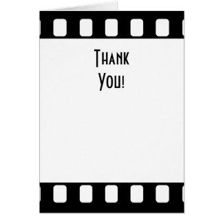 la película de 35m m le agradece tarjetón