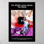 La película de acción 99,9%: El cartel de película Poster