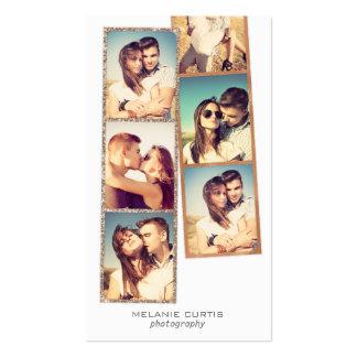 La película de la cabina de la foto pela la tarjetas de visita