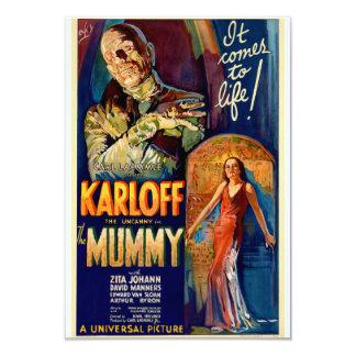 """La película de la momia 1932 invitación 3.5"""" x 5"""""""