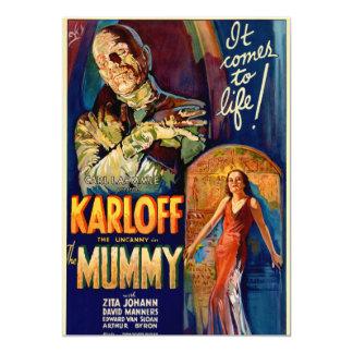 """La película de la momia 1932 invitación 5"""" x 7"""""""